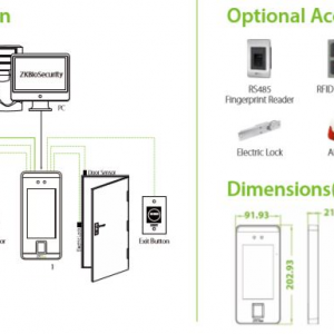 SI-ZK40SFA Time attendance Machine with Enhanced Facial Recognition Terminal